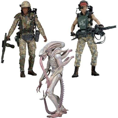 "DISCONTINUED 3 Variations 7/"" Scale Figures - NECA - Series 9 - Aliens"