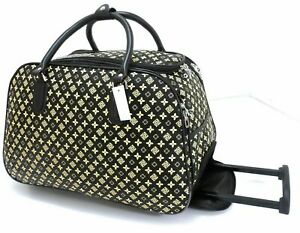 New-Designer-Inspired-Cabin-Approved-Trolley-Hand-Luggage-Holdall-Suitcase-Bag
