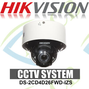 Details about HIKVISION DS-2CD4D26FWD-IZS 2MP LOW LIGHT SMART DARKFIGHTER  DOME CAMERA POE IP66