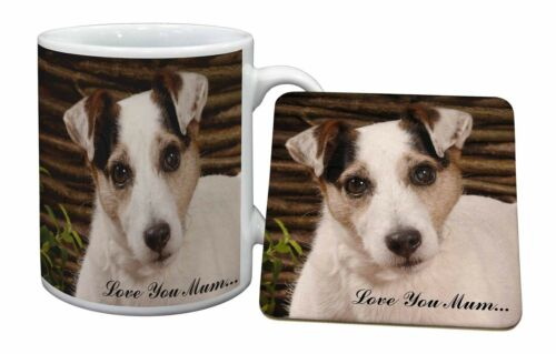 Jack Russell Dog 'Love You Mum' Mug+Coaster ChristmasBirthday Gif, ADJR56LYMMC