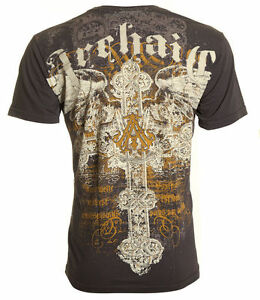 Archaic-AFFLICTION-Mens-T-Shirt-SERENITY-Cross-Wings-Tattoo-Biker-UFC-L-4XL-40