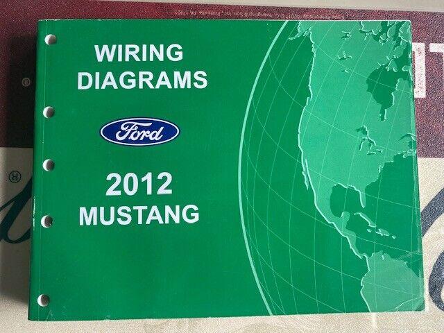 Oem Ford 2012 Mustang Shop Manual Wiring Diagram Book Nos