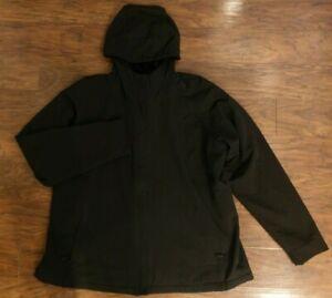 Womens Black Water Resistant Lined Hooded Jacket Kirkland Size XXL nwot