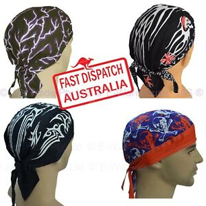f4533e0b31e Cotton Du-rag Bandana Biker Helmet Liner Hat Head Wrap Cover ...