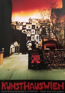 Hundertwasser Kunsthaus Wien rot Poster Kunstdruck Bild 84,1x59,4cm