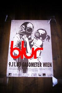 "BANKSY BLUR CONCERT THINK TANK 23"" x 33"" Rolled Movie Poster Original 2003"