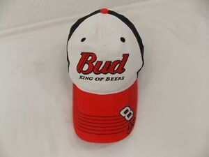 5c9d4cbfcbe74 Bud King of Beers Dale Jr Hat  8 Nascar Racing Chase Black Red One ...