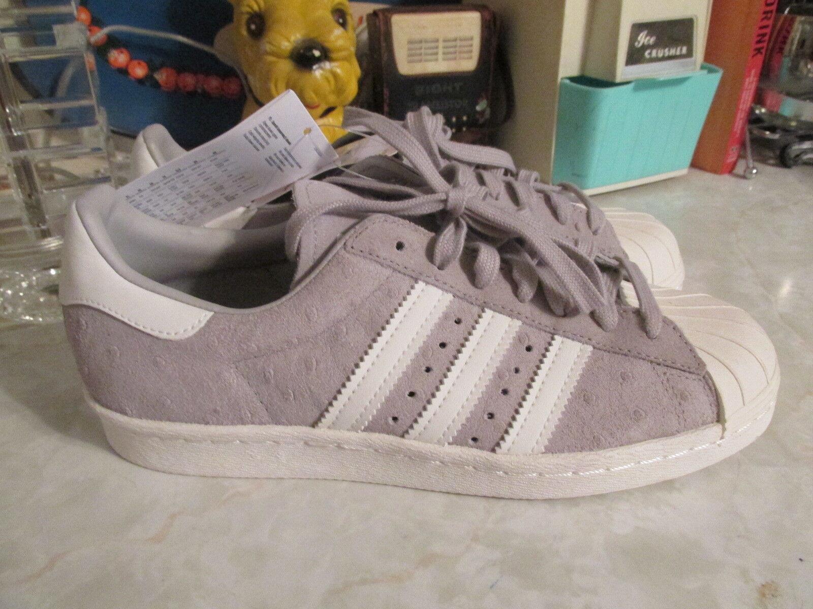Adidas Originals Superstar 80 estilo avestruz plano gris / / cuero plano avestruz 6,5 barata y bonita de moda zapatillas 4410b2