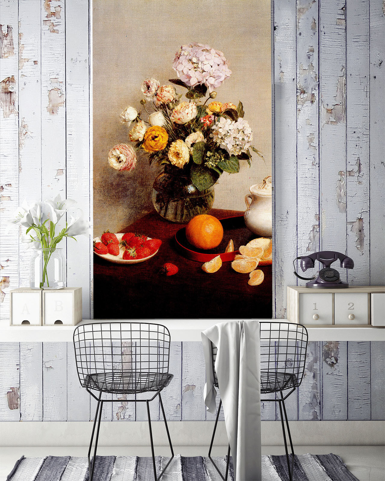 3D Farbe Bouquet Vase Fruit 02 Wall Paper Wall Print Decal Wall AJ WALLPAPER CA