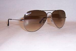 ce32c22d8 NEW RAY BAN AVIATOR Sunglasses 3025 004/51 GUNMETAL/BROWN 58MM ...