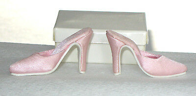 "Fashion Doll Shoes PINK SATIN PUMPS Fit CANDI 16/"" Ellowyne Tyler NEW"