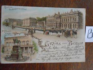 Carte Postale Vue Carte Berlin Lithographie-afficher Le Titre D'origine