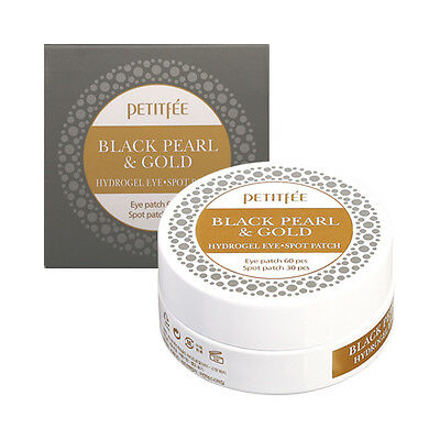 [PETITFEE] Black Pearl & Gold Hydrogel Eye Spot Patch - 1pack (90pcs) ROSEAU