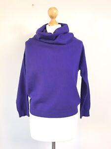 8 In 10 S Alpaca Jumper Rivanoti Lagenlook Silk Made Italy Wool Sweater Purple ZqPvvwgU47