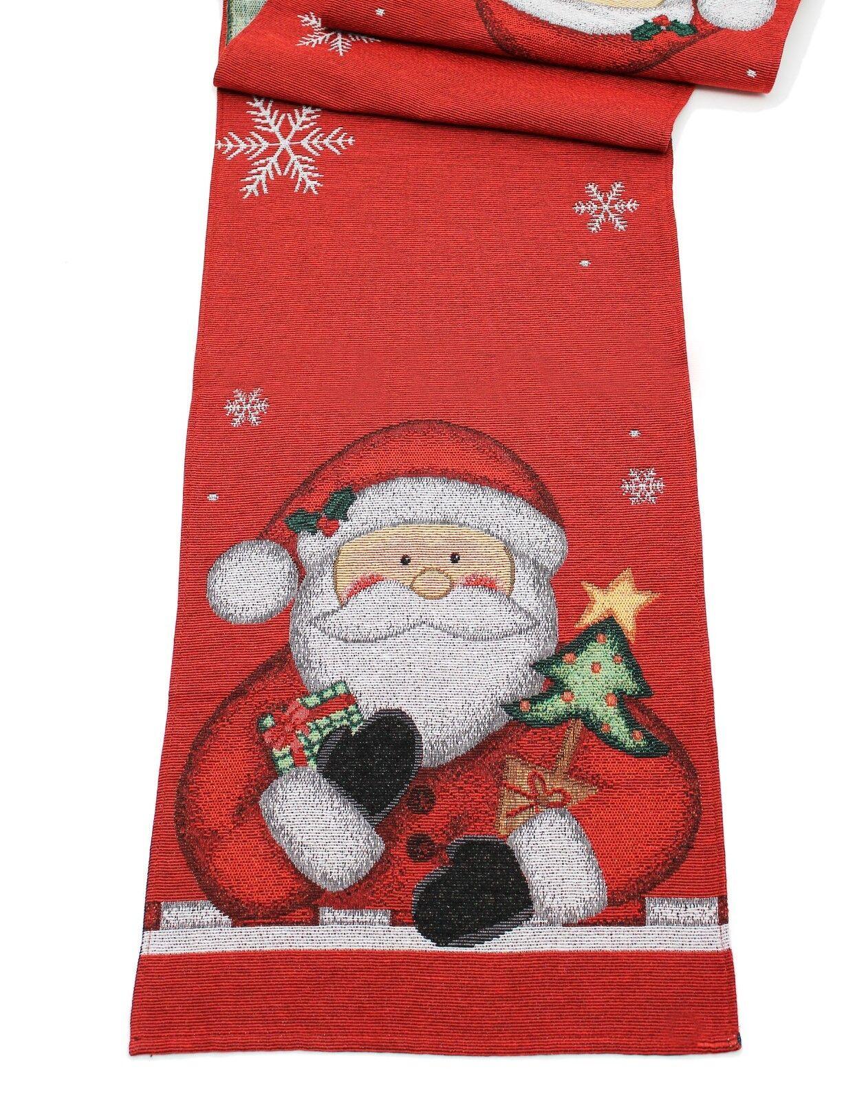 Super Babbo Natale Runner da Tavolo 33cm x 183cm