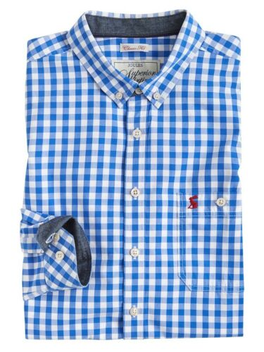 Joules MEN/'S hewney Classic Fit Camicia-Grassetto BLUE GINGHAM-Taglie M 2XL