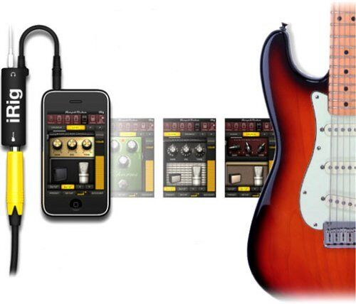 IRIG adaptador para iPhone iPod iPad iOS Apple Negro Amplitube guitar effects