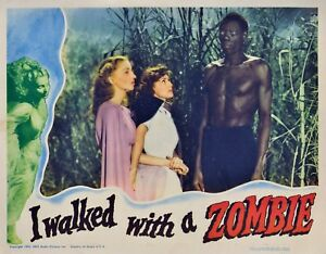 I WALKED WITH A ZOMBIE CLASSIC LOBBY CARD PHOTO 8x10