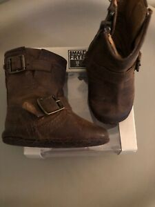 Small Frye Boots Size 1 Tan Baby
