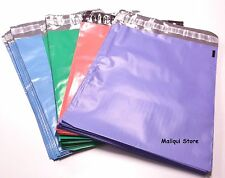 Pack of 100 - 10 x 13 MAILING POLY MAILER BAGS - Blue, Green, Pink and Purple
