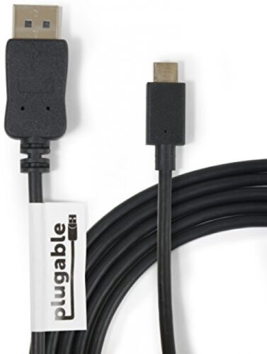 // 3 Plugable USB-C To DisplayPort Adapter Cable 6/'//1.8m For 2016 MacBook Pro