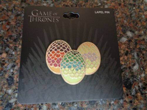 Games of Thrones Enamel Pin Eggs New on Card HBO Bioworld Lapel
