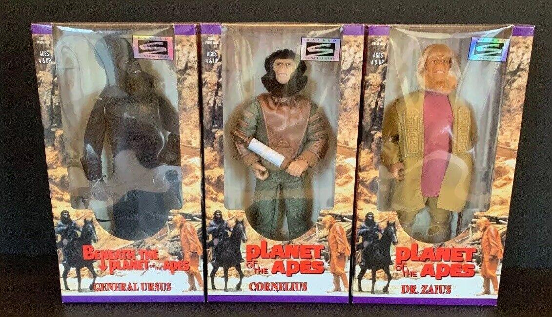 Hasbro Signature Series Planet of the Apes CORNELIUS DR. ZAIUS GENERAL URSUS Lot