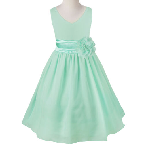 Flower Girls Formal Dress Wedding Bridesmaid Princess Prom Birthday Party Dress