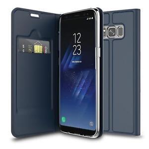 Handy-Huelle-Samsung-Galaxy-S8-Book-Case-Schutzhuelle-Tasche-Slim-Flip-Cover