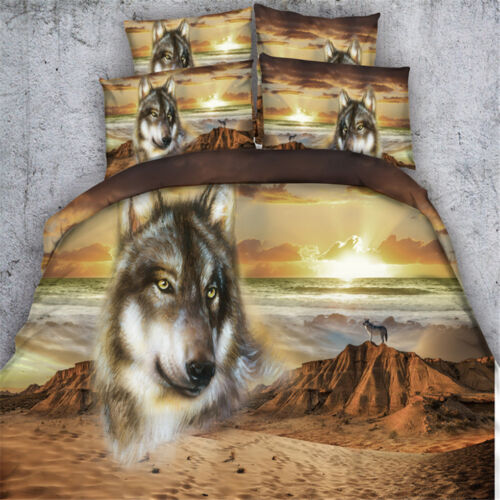 Wolf Duvet Cover Set Twin Full Queen King Bedding Set Pillow Case Lonely Animal