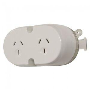 5-x-Surface-Socket-10AMP-Double-Plug-Base-White