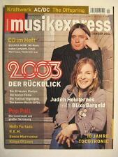 MUSIK EXPRESS SOUNDS 2004 # 1 - JUDITH HOLOFERNES BLIXA BARGELD KRAFTWERK AC/DC