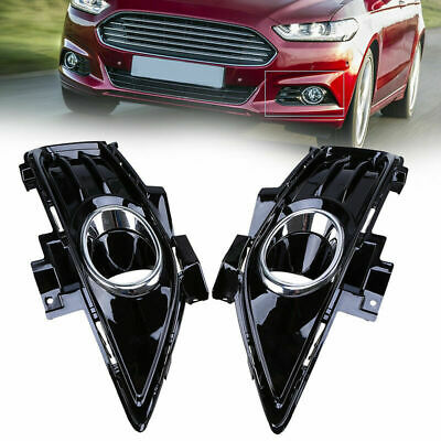 1Pair Front Bumper Grille Side Trim//Fog Bezel For 2013-2016 Ford Fusion Replace