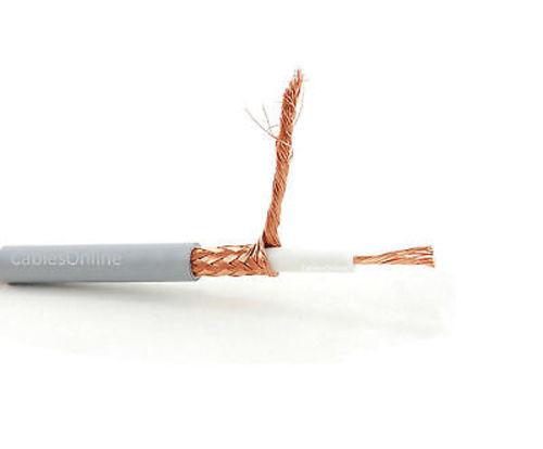 75ft RG-8//U Mini Coax UHF PL-259 Male//Male Grey Antenna Cable R-U8075