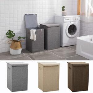 Foldable-Laundry-Basket-Washing-Clothes-Bin-Hamper-Fabric-Garment-Storage-Bag