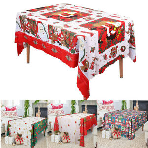Soft-Christmas-Themed-Table-Cover-Rectangle-Cloth-Runner-Xmas-Dinner-Decoration