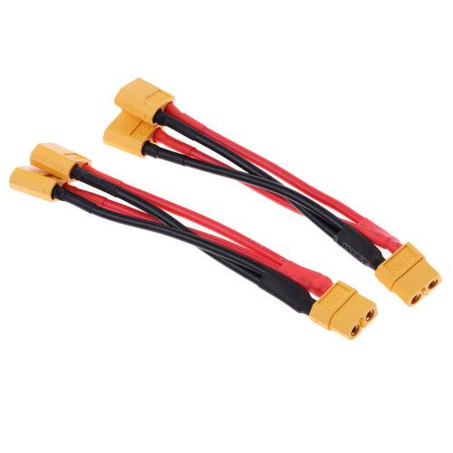 2 stücke xt60 männlich zu dual weiblich parallelstecker y teiler kabel
