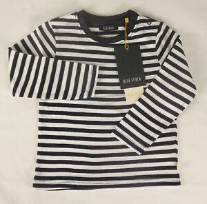 ed5a94a54f Das Bild wird geladen Blue-Seven-Mini-Jungen-Shirt-marine-weiss-gestreift-
