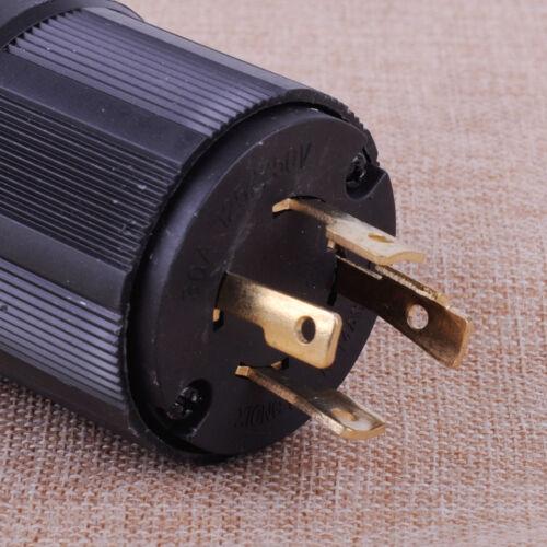 US Power Locking NEMA L14-30P 30A 125-250V 3P 4 Wire Twist-Lock Electrical Plug