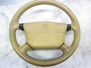 Porsche-911-996-986-Lenkrad-Leder-Tiptronic-Airbag-savannabeige-99334780463