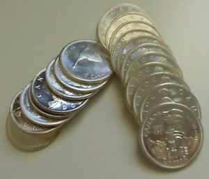 Lot-of-20-Canada-Silver-Dollar-Coins-Various-Dates-Over-12-Troy-Ounces-Silver
