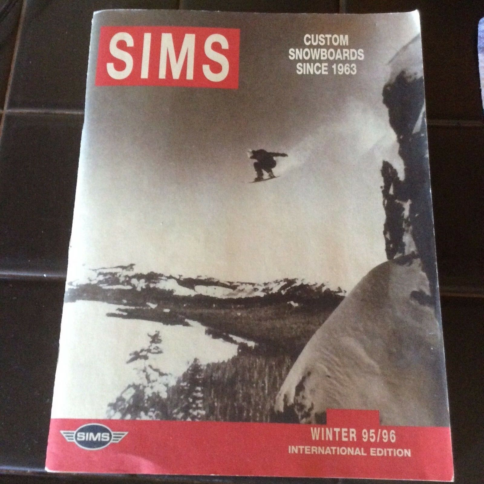 Sims vintage 1995 96 international poster catalog oldschool