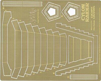 CYLON RAIDER COCKPIT LOUVERS ETCH MOE 186 PARAGRAFIX 1//32 BATTLESTAR GALACTICA