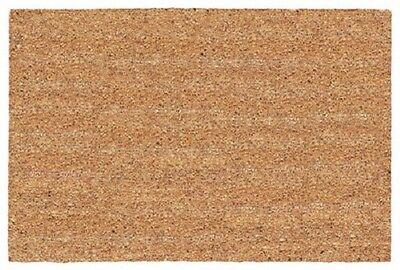 """USCOA # 31562 18"""" x 30""""  100% Natural Tan Plain Cocoa Coir Door Entrance Mat"""