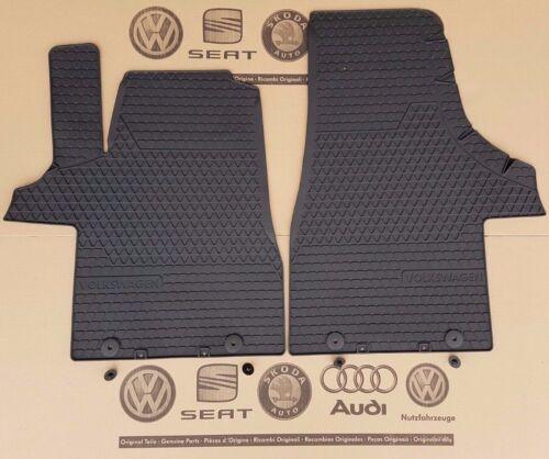 VW Bus T5 T6 GP Facelift original rubber front floor mats 2 pieces SET