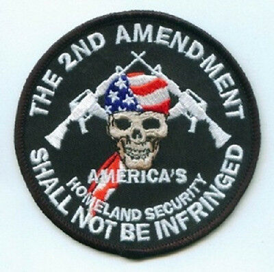 LOT OF 2 - THE SECOND AMENDMENT SHALL NOT BE INFRINGED #2 EMBROIDERED PATCH