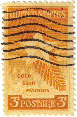 (USA299) 1948 3c yellow star & palm branch ow966