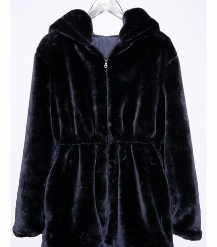 Women Jakke Hood Ladies Med Faux Reversible Frakke Fashion Outwear Fur rrOq04xw