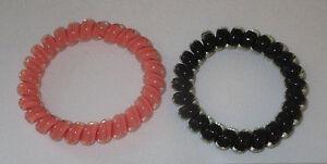 Swirly Do Hair Ties Orange Black (2) Tangle Free Ponytail New ... 4f09a65d80c