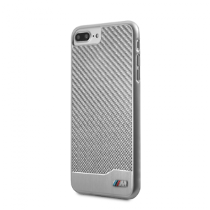 finest selection f6597 f1cee Details about Genuine BMW M Sport Silver Carbon Impact Case for Apple  iPhone 8 Plus & 7 Plus